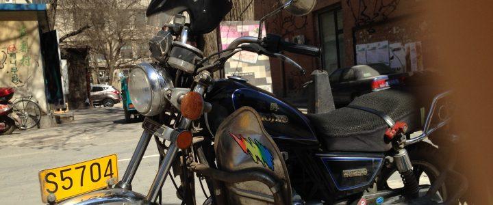 Mit dem Motorrad zum Neuen Arbeitsplatz nach China