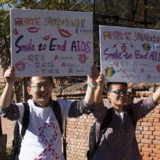 Dabei auf dem ersten Aids Walk auf Chinas Großer Mauer