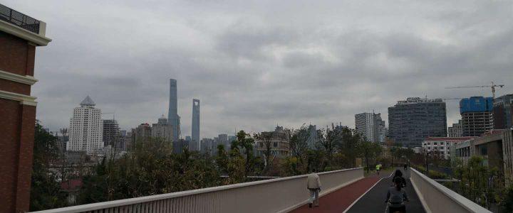 Neuer Radweg in Shanghai